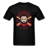 Custom Design Negan Team T Shirt Mens Hip Hop Cross Baseball Dance T Shirts Funny DJ