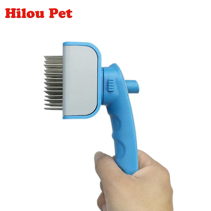 Self Clean Dog Brush Puppy Hair Fur Grooming Shedding Comb Tool For Long & Short Hair Dogs and Cats 2 Colors Avaliable