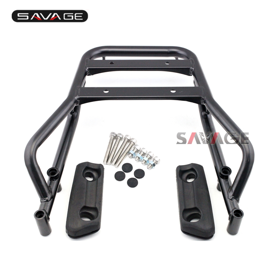 For HONDA CB400 Super Four EBL-NC42 2014 2015 2016 Motorcycle CNC Aluminum Rear Carrier Luggage Rack partol black car roof rack cross bars roof luggage carrier cargo boxes bike rack 45kg 100lbs for honda pilot 2013 2014 2015