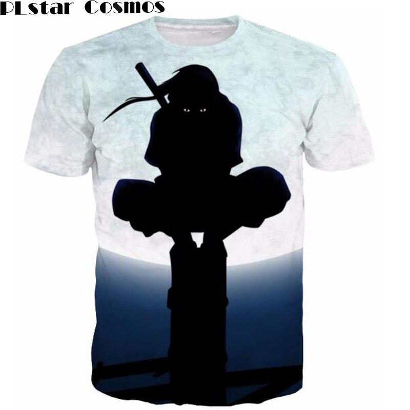 PLstar Cosmos 3D otisci tshirts Klasični Anime Naruto majice - Muška odjeća