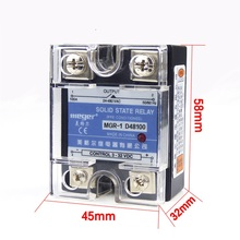 Buy solid state relay d48100 and get free shipping on aliexpress 2pclot industrial use mager ssr mgr 1 dc ac single phase solid state relay 100a sciox Images