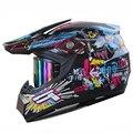 Livre de óculos dos homens casco Capacetes capacete da motocicleta DOT aprovado Capacete de motocross ATV da bicicleta da sujeira corrida capacete da motocicleta