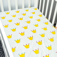 Crib Sheets For Baby Unisex Bedding Sheet Set 100 Organic Fitted Jersey Cotton Bed Mattress Pad