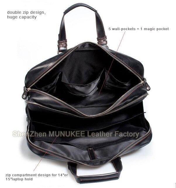 Luxury Genuine Leather Men Shoulder Bag Large Crossbody Bag Messenger Bag  men Leather 15