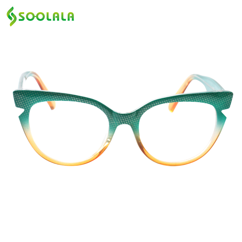 SOOLALA de ojo de gato gafas de lectura de las mujeres de los hombres de moda Color gafas de presbicia gafas de lectura de ojo de gato de + 0,5 a 4,0