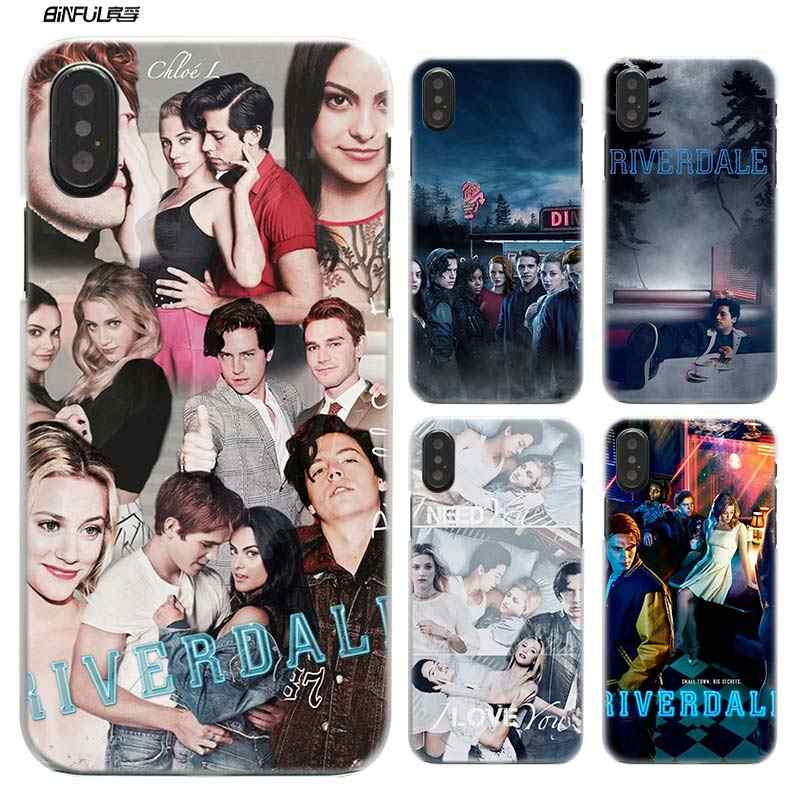 Case for iPhone XS Max XR X 10 7 8 6 6S Plus 5S SE 5 4S 4 5C Clear Hard Plastic Phone Cover Coque Shell TV Riverdale SouthSide