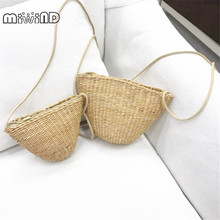 Rattan grass small satchel ladies can be fitted with mobile phone keys purse cute grass women bag bolso borsetta portmonetka