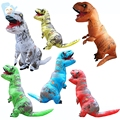Inflatable T Rex Dinosaur Tyrannosaurus  Cosplay Halloween Costumes Walking Mascot For Women Men Jurassic Park Disfraces Adults