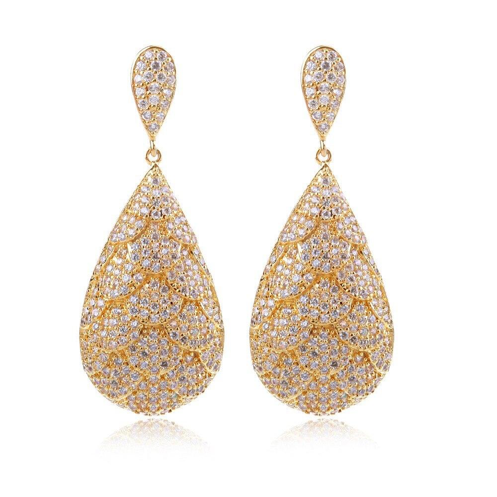 Earrings for women Cubic zircon luxury Drop Earring wedding earrings new design style fashion jewelry earrings Free shipping