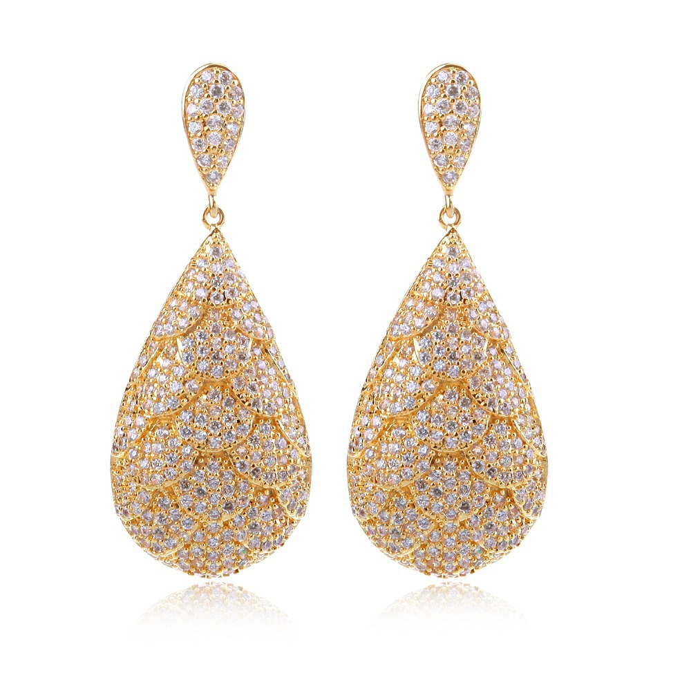 Earrings for women cubic zircon luxury drop earring wedding earrings new design style fashion Design and style fashion jewelry