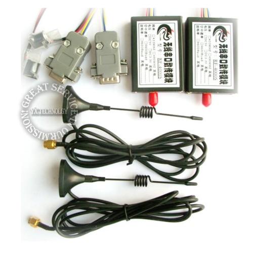 4000 m wireless serial module 4 km Wireless RS232 TTL RS485 wireless serial communication module