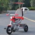 Triciclo de niños atletas todas aluminio multifunción empuje de mano del bebé bicicleta cochecito infantil