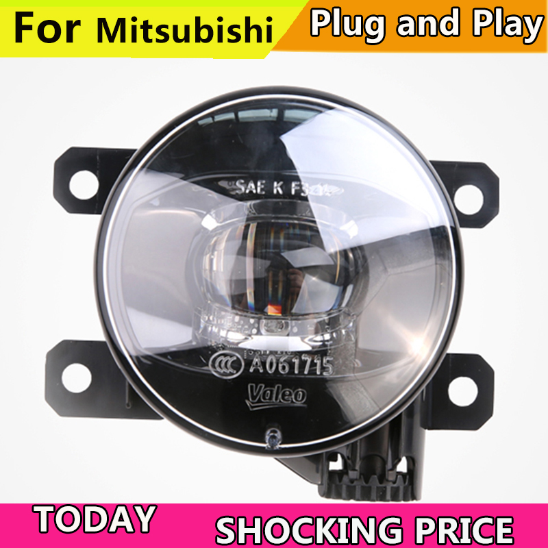 Car Styling FOR VALEO Original Fog Lamp for Mitsubishi Outlander Pajero Grandis ASX L200 Triton LED Fog Light for mitsubishi l200 outlander 2 pajero 4 grandis 2003 2015 car styling angel eyes drl led fog lights 9cm spotlight ocb lens