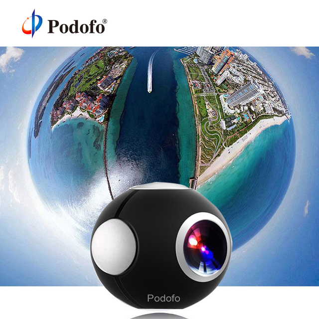 US $42 54 26% OFF|Podofo 360 Camera Panoramic Mini Camera 360 HD Wide Dual  Lens Fish Eye VR Video Camera for Android Sport Action Camera TypeC-in