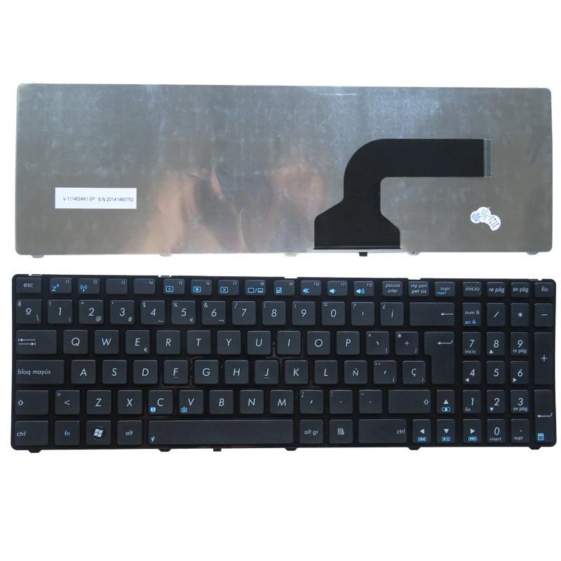 Spanyol billentyűzet Asus UL50 UX50 UX50V N51 K52F K52JE K52JB K52JC N53 K53 K53E SP laptop billentyűzetéhez
