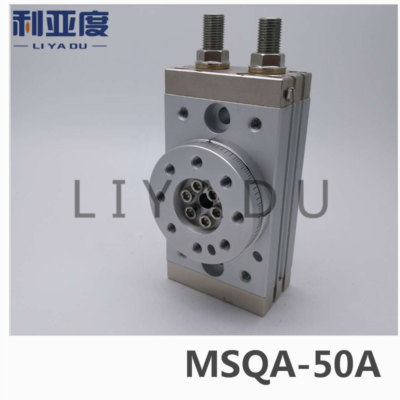 SMC type MSQA-50A rack and pinion type cylinder / rotary cylinder /oscillating cylinder, with angle adjustment screw MSQA 50A cdra1bsu50 180c smc orginal rack and pinion type oscillating cylinder rotary cylinder