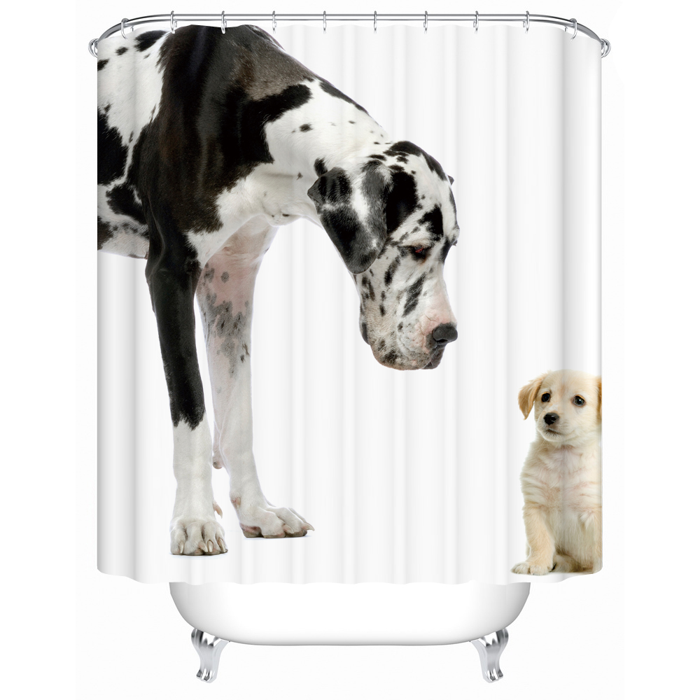 Two Cute Puppies Waterproof Shower Curtains Bathroom Curtain Acceptable Personalized Custom Pattern Bath Screen Y 096 In From Home Garden
