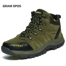 Gram Epos мужские зимние теплые большие размеры 47 48 зимние меховые зимние мужские осенние Нескользящие ботильоны на резиновой подошве непромокаемая мужская обувь