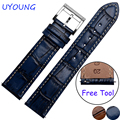 For Samsung Gear S2/S3 Smart Watch band 20mm 22mm Leather Watchband Quality Bracelet