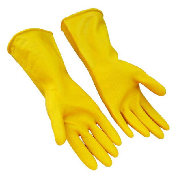 Natural Latex Thicken Acid Alkali Resistant Gloves Safety Gloves Waterproof Resistance Soiling pack of 3 pairs