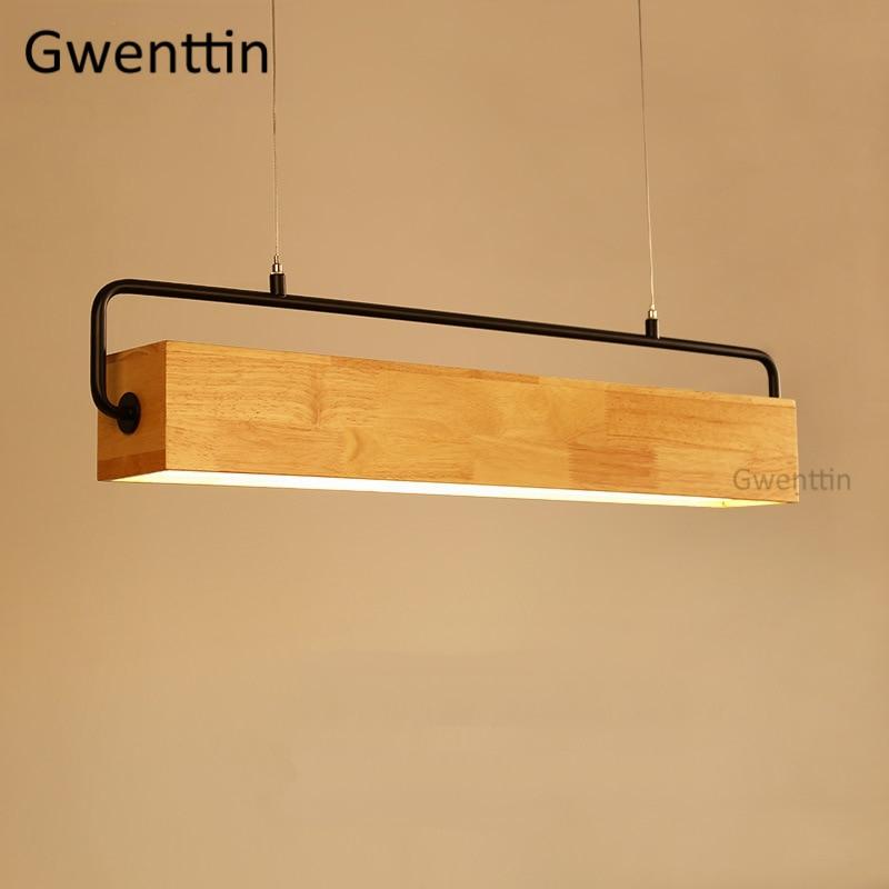 Pingente de Madeira nórdica Lâmpada Led Luzes de Suspensão De Madeira Moderna para Sala de estar Cozinha Luminárias Suspensão Luminária Decoração Da Sua Casa