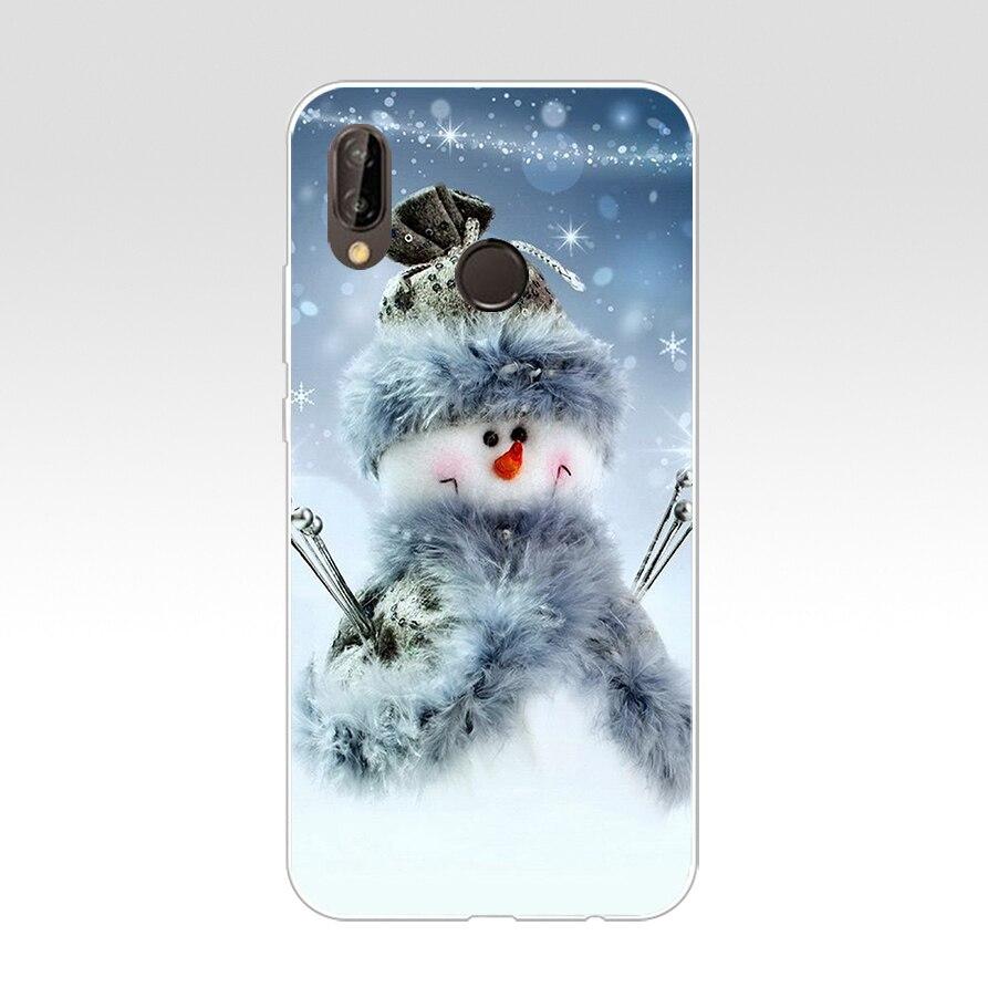 175H Christmas Snow Soft Silicone Tpu Cover Case For Huawei Nova 3 3I P Smart
