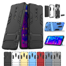 Luxury Armor Shockproof Phone Case For Oneplus 7 Pro Hybrid PC Soft TPU Protective Back Cover For Oneplus 7 Pro Case With Holder