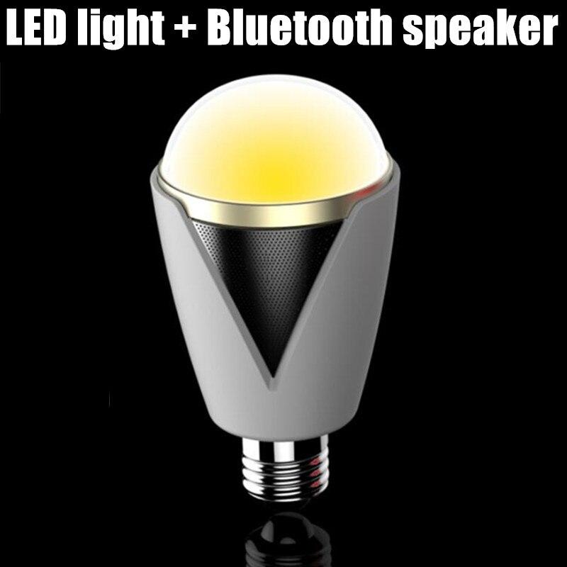 Colorful 8W AC110v 220v 230v 240v music Smart LED Bulb speaker Bluetooth E27 lamp remote control bluetooth speaker LED bulb