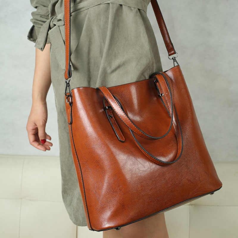 Kobiety skórzane luksusowe torebki skórzane duże torby na ramię kobieta Crossbody Messenger torba dla kobiet 2019 Sac A główne brązowy czarny czerwony