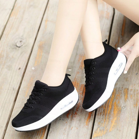VTOTA Women Wedges Shoes Mesh Breathable White Shoes Fashion Spring Summer Women Chunky Sneakers zapatillas mujer Casual Shoes L Multan
