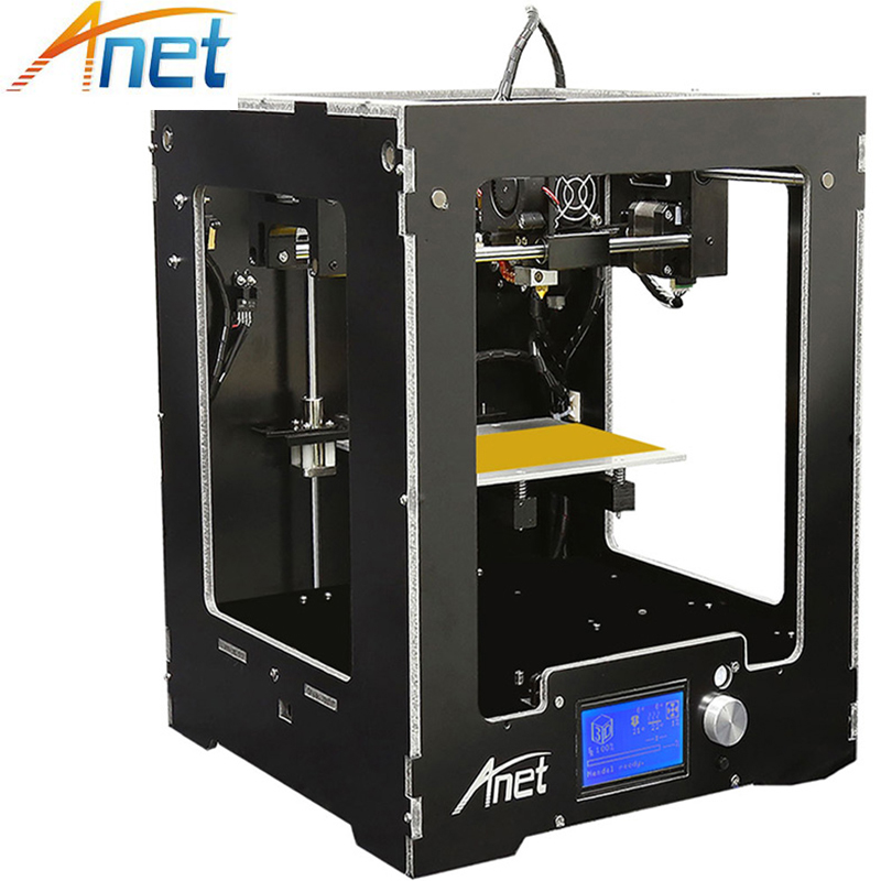 Anet A3 3D Printer Machine Full Acrylic Assembled Reprap Prusa i3 3D Printer Kit with Filament 8G SD Card +Tool for Free Large канц эксмо тетрадь окошки 48 листов в клетку цвет желтый