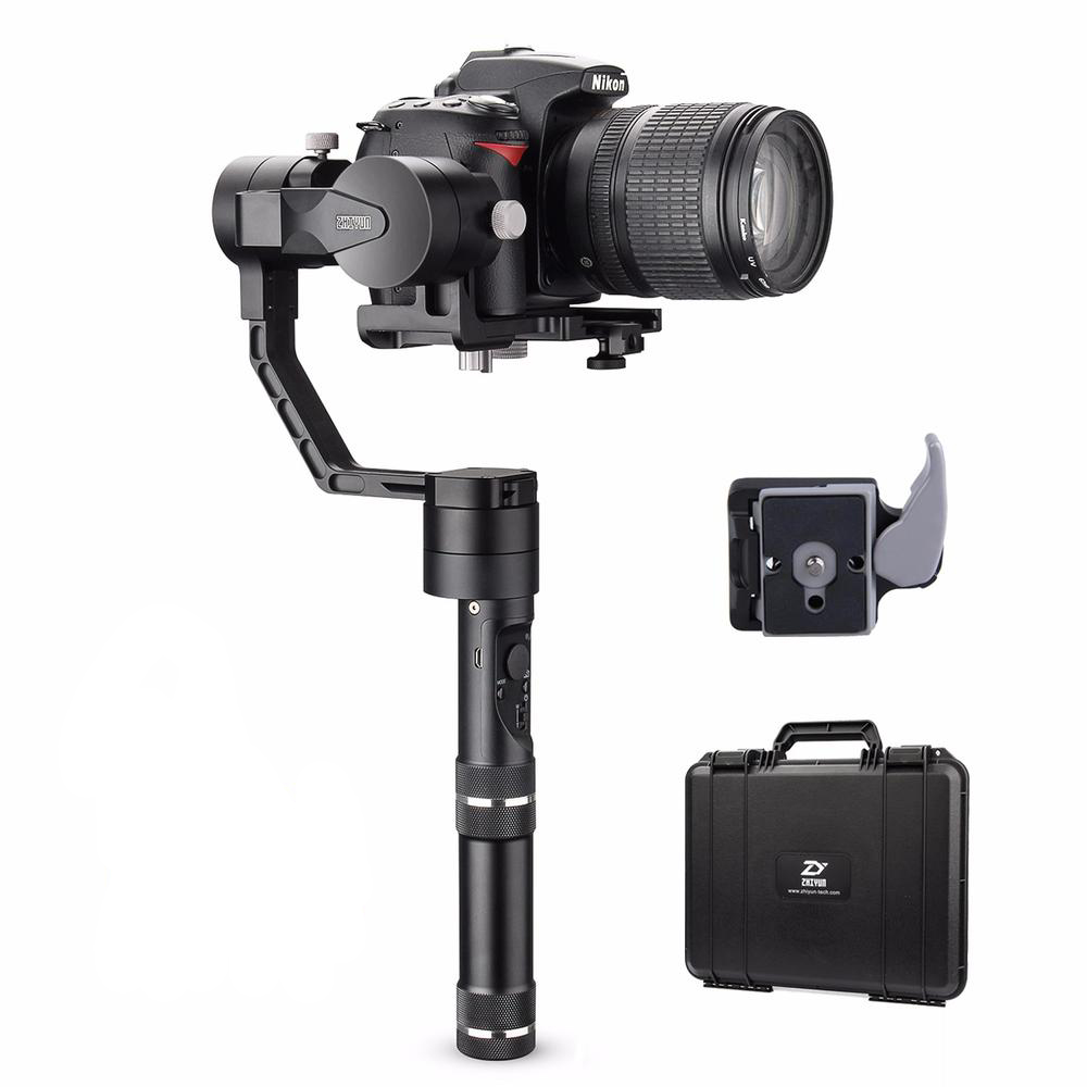 Zhiyun Crane V2 3-axis Gimbal Handheld Stabilizer for DSLR Camera Canon,Nikon, Sony Alpha7 and Panasonic With Bags latest 2017 version zhiyun crane 3 axis handheld stabilizer gimbal for dslr canon sony a7 cameras load 1800g