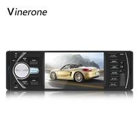 Vinerone Radio Car 1 Din Bluetooth Car Audio Player 4x60 USB AUX FM MP3 Auto Radio Support Rear View Camera Autoradio 1din