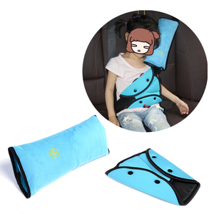 Car Children Safety Seat Belt pad Harness Shoulder Support Pillow Sturdy Adjuster Adjust Device For Ford For Toyota For Peugeot(China)