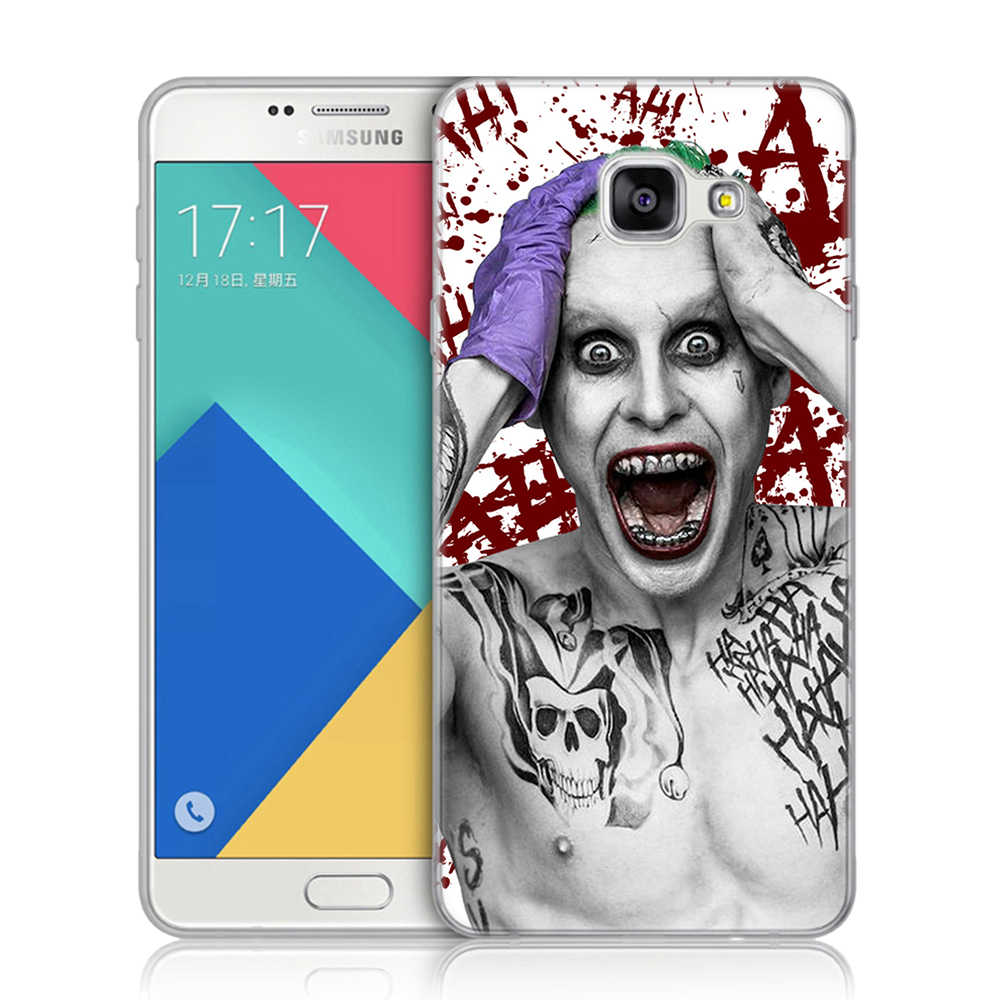 Suicide Squad Joker Soft TPU Cover For Coque Samsung Galaxy A3 A5 A7 2016 2017 A6 Plus A8 Plus A7 2018 A10 A30 A50 A40 A70 Case