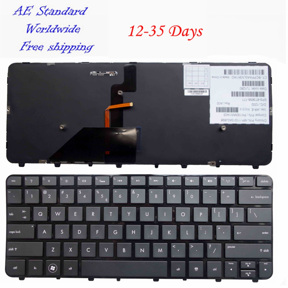 US Black Laptop Keyboard FOR HP Folio 13-1015TU 1000 1003xx 1020 2000 Backlight English 98% New laptop keyboard for ctl u570 black us english now and original