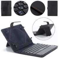 Universal 8 9 Inch Bluetooth Keyboard Leather Stand Case For PC Tablet High Quality Dropshipping Free