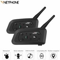 2PCS Wireless Bluetooth Helmet Headset Motorcycle Intercom 1200m Multi Interphone HD Speaker For 6 Riders Motor Intercomunicador