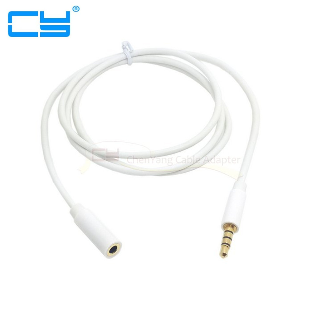 Cablecc White Color 3 5 mm 4 Pole Audio Stereo Headphone