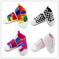 0-18 Months Newborn shoes 13 Style printed Canvas shoes for girls casual Baby schoenen Baby anti slip shoes