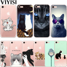 VIYISI Cute Cat Animal For Apple iPhone X IPhone 7 case 8 6 6S Plus Cover 5 5S SE Phone Case Soft TPU Silicone Back Coque Shell