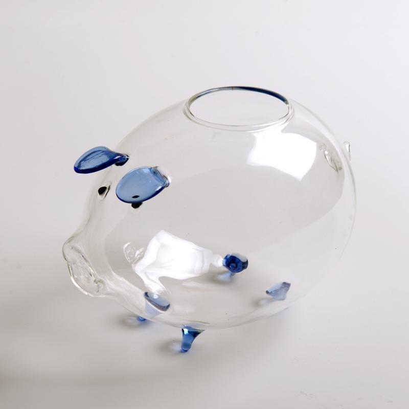 Decorative Tabletop Glass Planter Glass Flower Pot Plant Container Flower Vase