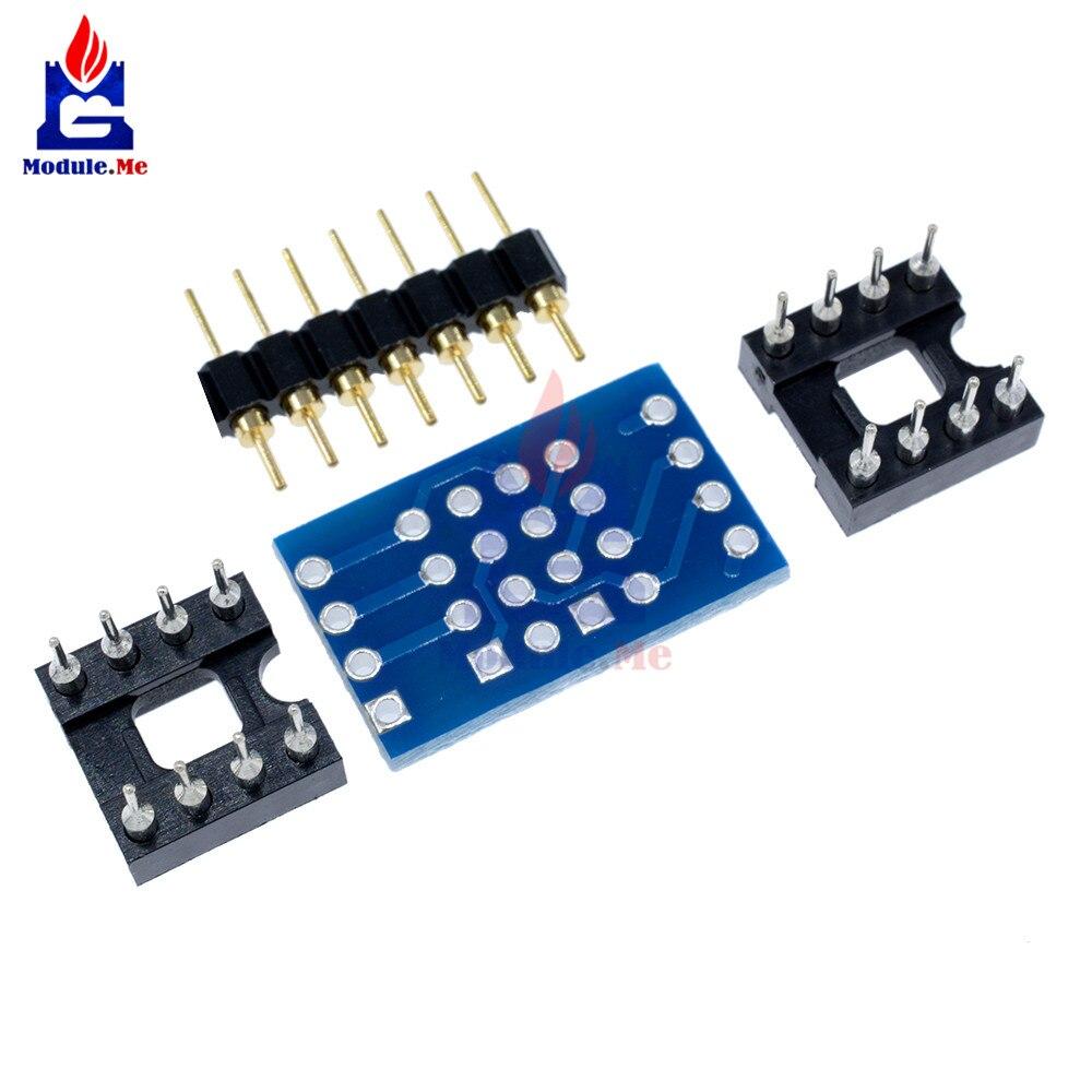 Dual Dip8 To Mono Opamp Pcb Pin Socket For Ne5532 Opa2132 50 Prototype Circuit Panel Solder Diy 50x70 Board 7 1 2