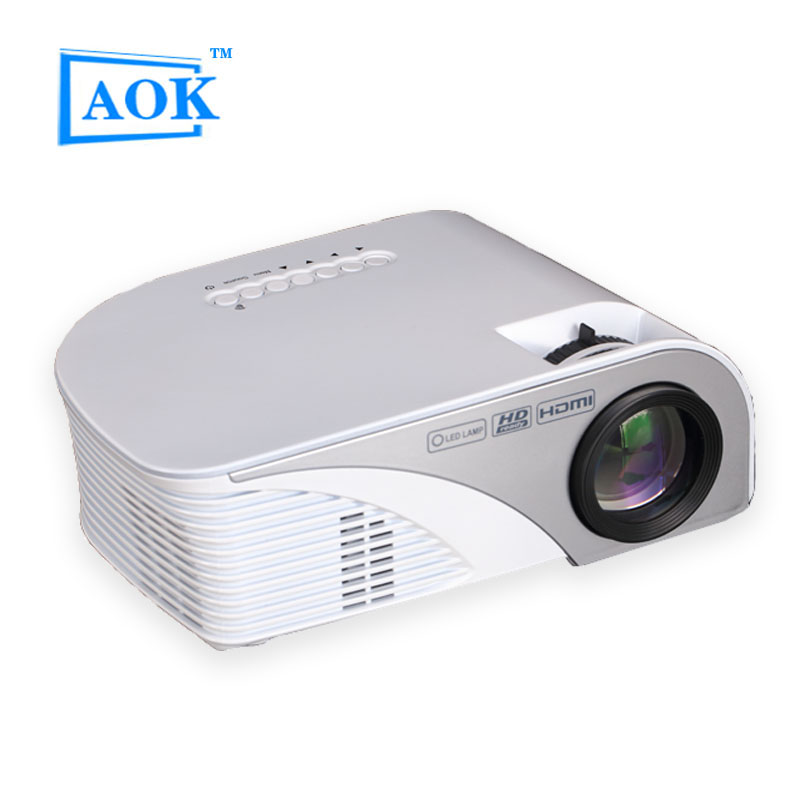 2016 AOK P90 MINI Portable LED Projector For Video Games TV Home Theater Movie Support HDMI VGA AV SD P90 805b