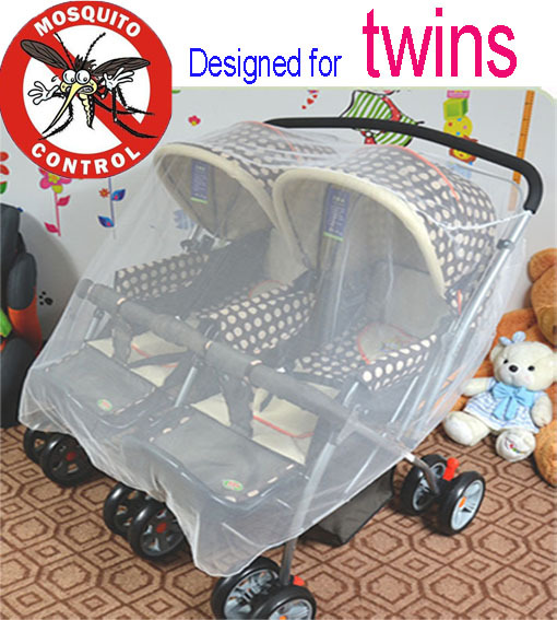 ₪newborn Stroller Mosquito Net ୧ʕ ʔ୨ For For Twins Baby