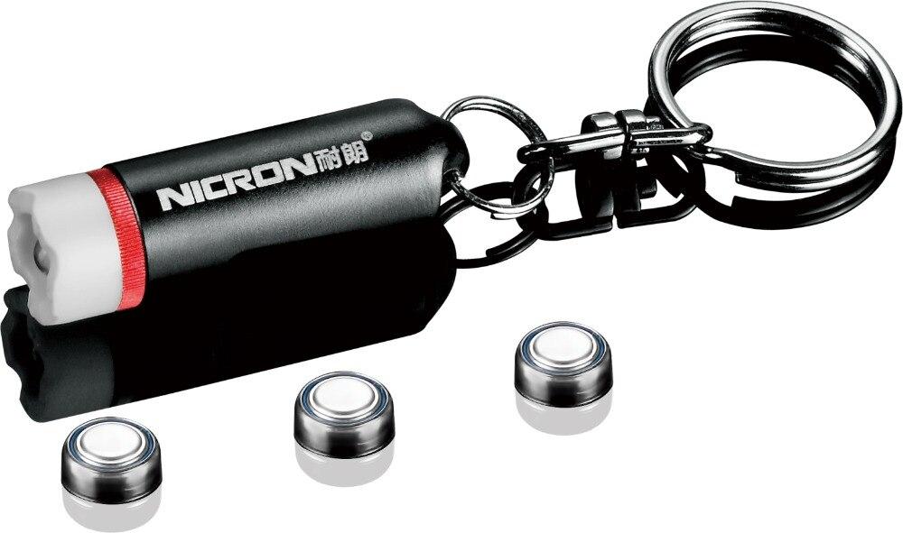 NICRON N1 1 LED Mini Keychain Flashlight Easy to Carry in Pocket