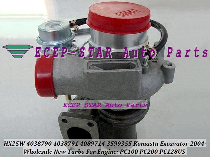 HX25W 4038790 4038791 4089714 3599355 3599356 Turbo For KOMATSU Excavator 2004 PC100 PC200 PC128US For Hyundai