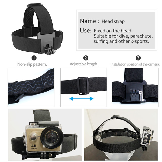 Accessories For Gopro hero 5 6 Chest Mount For Xiaomi Yi 4K For Eken H9 Head Strap Wrist Strap Mount SJCAM SJ4000 Action Camera (2)