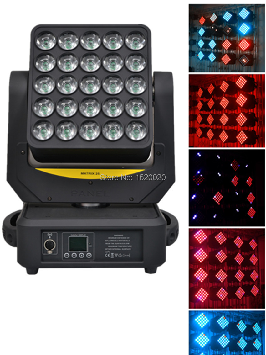 Magic 25*12w led matrix  moving head light wash effect 4in1 RGBW color mixing with Artnet and wireless funtion