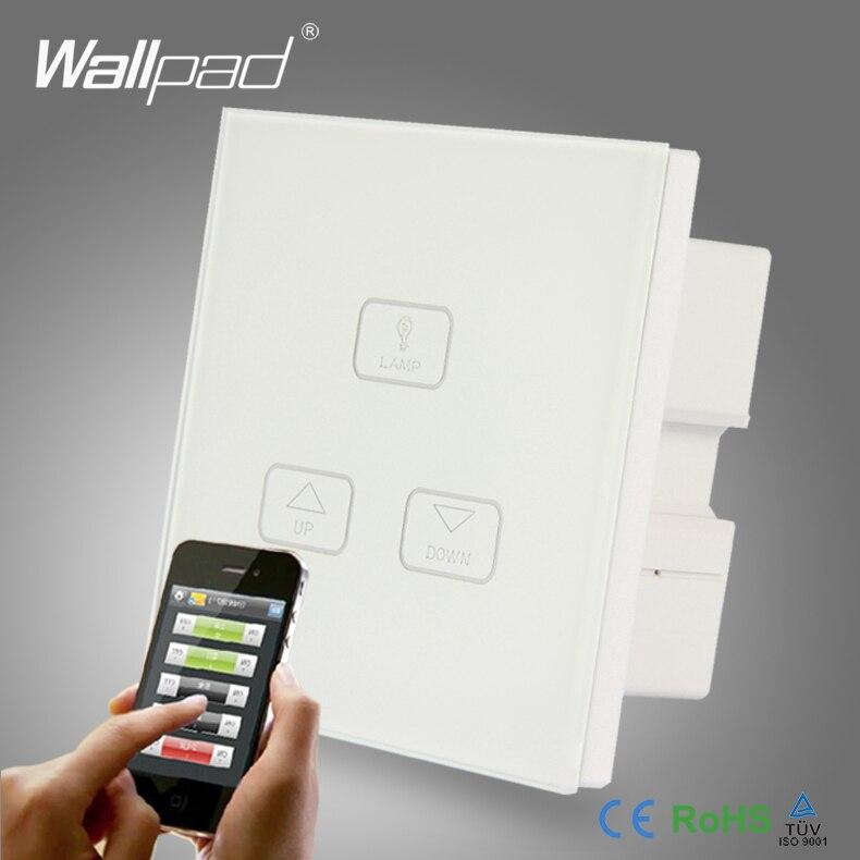 2pcs 3 Gang 2 3 4 Way Dimming Control Switch Wallpad Modern White Glass LED Light